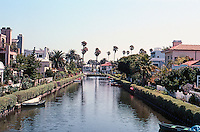 Venice CA: Carroll Canal looking east from Dell Ave.  Photo  '01.