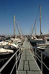 Pontoon, Puerto Mogan harbour, Gran Canaria, Canary Islands, Spain.