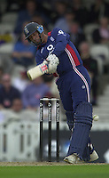 09/07/2002 - Tue.Sport - Cricket-  NatWest Series - Eng vs India Oval.England batting - Nasser Hussian .