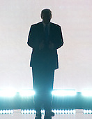 Donald Trump arrives to introduce his wife Melania, who will make remarks at the 2016 Republican National Convention held at the Quicken Loans Arena in Cleveland, Ohio on Monday, July 18, 2016.<br /> Credit: Ron Sachs / CNP<br /> (RESTRICTION: NO New York or New Jersey Newspapers or newspapers within a 75 mile radius of New York City)