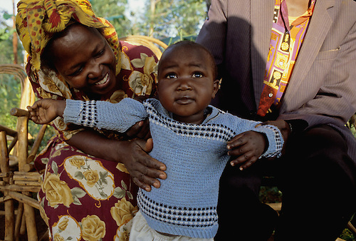 HIV-positive parents in Kenya, thanks to advice from Church World Service Healthcare Partners, are able to celebrate the milestones of their son Kibaki, who is HIV negative.