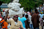 On market day, people crowd the main street in Les Palmes, a rural village in southern Haiti where the Lutheran World Federation has been working with survivors of the 2010 earthquake, along with other residents, to experience more abundant life.