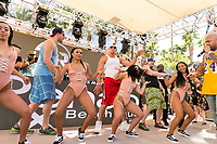 LAS VEGAS, NV - APRIL 29: Rob Gronkowski and Mojo Rawley perform with Flo Rida at Rehab at The Hard Rock Hotel & Casino in Las Vegas, Nevada on April 29, 2017. Credit: GDP Photos/MediaPunch