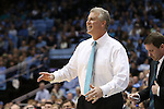 31 December 2013: UNCW head coach Buzz Peterson. The University of North Carolina Tar Heels played the UNC Wilmington Seahawks at the Dean E. Smith Center in Chapel Hill, North Carolina in a 2013-14 NCAA Division I Men's Basketball game. UNC won the game 84-51.