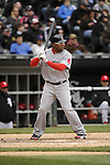 CHICAGO - APRIL 29:  Marlon Byrd #23 of the Boston Red Sox bats against the Chicago White Sox on April 29, 2012 at U.S. Cellular Field in Chicago, Illinois.  The White Sox defeated the Red Sox 4-1.  (Photo by Ron Vesely)   Subject:  Marlon Byrd