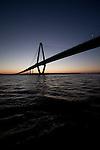 arthur ravenel jr bridge at dusk charleston south carolina cooper river