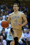 04 February 2015: Georgia Tech's Travis Jorgenson. The Duke University Blue Devils hosted the Georgia Tech Yellow Jackets at Cameron Indoor Stadium in Durham, North Carolina in a 2014-16 NCAA Men's Basketball Division I game. Duke won the game 72-66.
