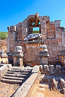 The fountain of the Acropolis which fed a canal running down  the main street of the city. Perge (Perga) archaeological site, Turkey