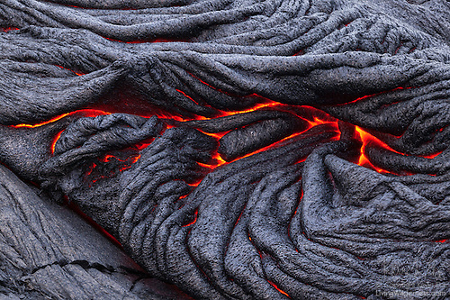 Pahoehoe Lava Flow, Hawai`i Volcanoes National Park