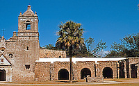 San Antonio:  Mission Concepcion, dedicated in 1755. Built on bedrock and never lost its roof or integrity. Colonial Spanish design. These Franciscans were active, not contemplative.