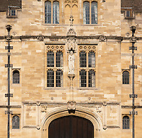 Detail of St John's College Gate,St Giles Oxford