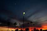 Dusk in a parking lot outside of the Sun City Country Club before a dinner in honor of the 50th anniversary December 9, 2010...2010 marks the 50th anniversary of Sun City, America's first retirement city that remains the largest today with more than 40,000 residents 55 and older.