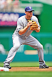 29 May 2011: San Diego Padres third baseman Chase Headley in action against the Washington Nationals at Nationals Park in Washington, District of Columbia. The Padres defeated the Nationals 5-4 to take the rubber match of their 3-game series. Mandatory Credit: Ed Wolfstein Photo