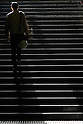 Apr. 30, 2010 - Tokyo, Japan - A businessman walks up a normally busy staircase on April 30, 2010 in Tokyo, Japan. Japan's unemployment rate rose to 5.0 % in March, up 0.1 percent from the previous month, the Health, Labor and Welfare Ministry said in a report on Friday. The number of jobless people rose 150,000 from a year earlier to 3.5 million, the ministry said.