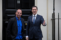 02.02.2015 - Yanis Varoufakis, Greece's Finance Minister Visits 11 Downing Street