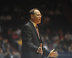 Georgia coach Mark Fox reacts to a call against Mississippi at the C.M. &quot;Tad&quot; Smith Coliseum in Oxford, Miss. on Saturday, January 15, 2011.  (AP Photo/Oxford Eagle, Bruce Newman)