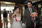 Taiwanese Wedding -- Walking down the isle, Taiwanese style.