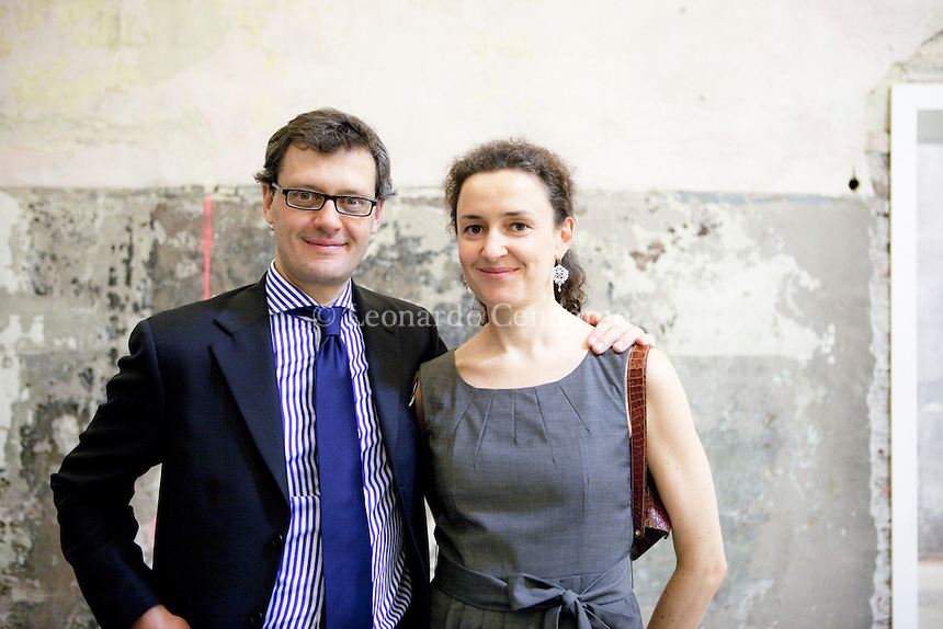 Matteo Ulrico e Barbara Hoepli, editori. Torino, Fiera del libro 2011.  © Leonardo Cendamo