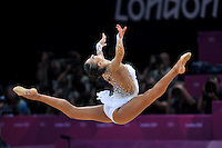 August 9, 2012; London, Great Britain;  EVGENIYA KANAEVA of Russia performs with ball on day 1 of qualifying at London 2012 Olympics.