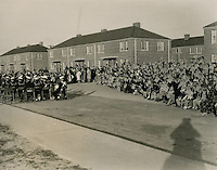 1941  October  17..Merrimack Landing   ..A view of a section of seats occupied by children during the Dedication Ceremony....NEG#.444..