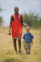 Masai tribesman, Masai Mara, Kenya, Africa