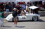 Jim Hall strapping in to his 2E at Road America