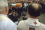 Hunger striker Martin Hurson funeral 1981. The Troubles Northern Ireland 1980s.Hooded IRA gunmen.