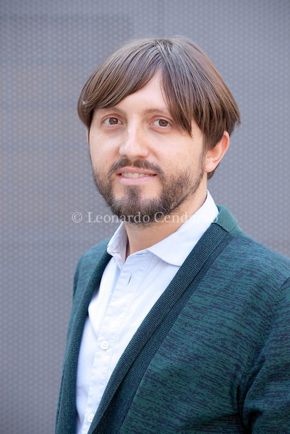 """Matteo Cellini, vincitore del Premio Campiello Opera Prima con il suo nuovo libro """"Cate, io"""". Publishing Fazi editor. Milano, 25 settembre 2013. © Leonardo Cendamo"""