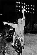 Juan Les Pins, France. July 26th, 1977. Claude François during a concert in Juan-Les-Pins on the French Riviera.