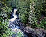Lower Falls of the Cascade River, Cascade River State Park, Minnesota, June, 1987
