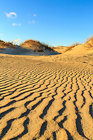 Windblown pattern in the sand on Hatteras Island.