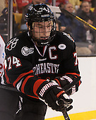 Vinny Saponari (NU - 74) - The Northeastern University Huskies defeated the Boston University Terriers 3-2 in the opening round of the 2013 Beanpot tournament on Monday, February 4, 2013, at TD Garden in Boston, Massachusetts.