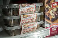 Gluten free baked goods in a supermarket freezer in New York on Sunday, June 26, 2016. (© Richard B. Levine)
