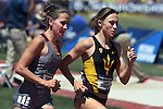 13 JUNE 2015: Shelby Houlihan of Arizona State leads Rhianwedd Price of Mississippi State in the Women's 1500 meters during the Division I Men's and Women's Outdoor Track & Field Championship held at Hayward Field in Eugene, OR. Price won the race in a time of 4:09.56. Steve Dykes/ NCAA Photos