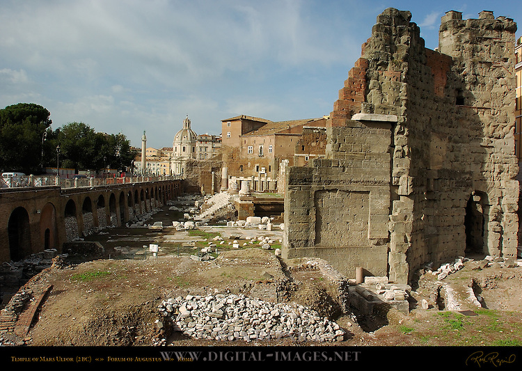 Forum of Augustus Exedra Temple of Mars Ultor 27 BC Rome