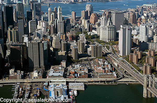 Aerial Downtown New York