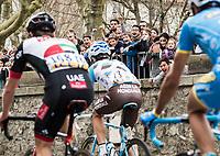 Picture by Alex Broadway/SWpix.com - 09/03/17 - Cycling - 2017 Paris Nice - Stage Five - Quincié-en-Beaujolais to Bourg-de-Péage - School children cheer the breakaway as it passes.