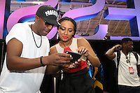 NEW ORLEANS, LA - JULY 2, 2016 JB Smoove & Keri Hilson backstage at the Essence Festival, July 2, 2016 at The New Orleans Convention Center in New Orleans Louisiana. Photo Credit: Walik Goshorn / Media Punch
