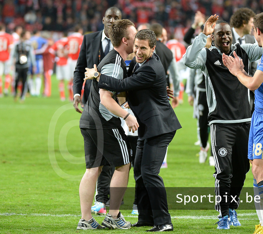 Benfica Lissabon - Chelsea FC : Eden Hazard celebrating.foto DAVID CATRY / Nikonpro.be
