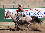 Bryson Masini competes in the Ranch Horse Class at the Minden Ranch Rodeo on Saturday, July 21, 2012..Photo by Cathleen Allison