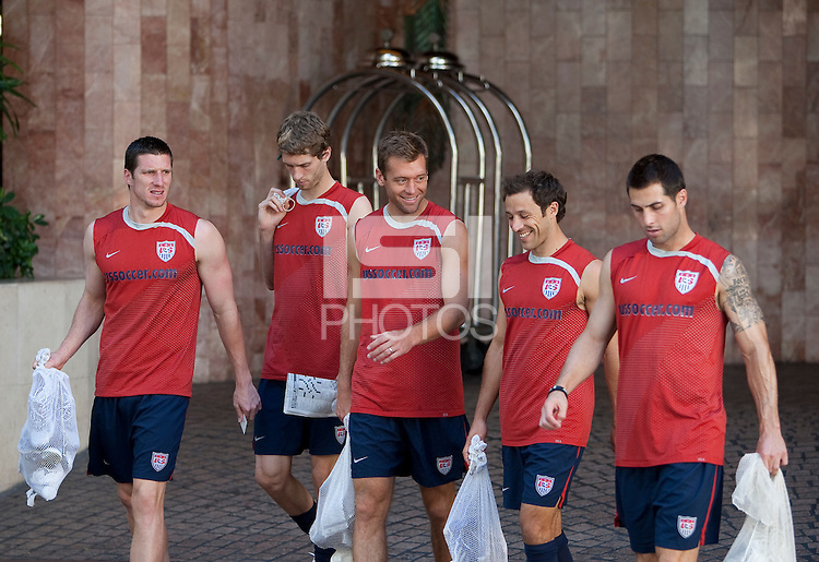 U.S. Men's National Team training in San Pedro Sula, Honduras.