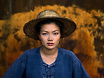 Woman in Straw Hat<br />