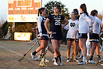 23 February 2017: Notre Dame's Sydney Flynn (26). The Elon University Phoenix hosted the University of Notre Dame Fighting Irish at Rudd Field in Elon, North Carolina in a 2017 Division I College Women's Lacrosse match. Notre Dame won the game 16-7.