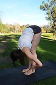Yoga photography of a young woman doing yoga