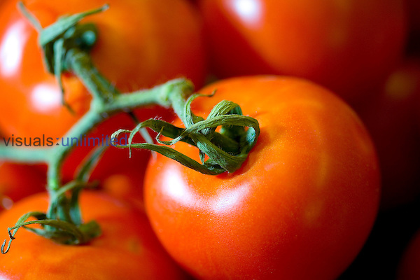 Tomatoes contain compounds such as vitamin C and lycopene that have been proven to help prevent cancer, heart disease and cataract. Royalty Free