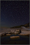 The big dipper rises over Pedernales Falls State Park in the Texas Hill Country.