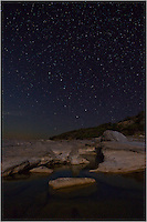 This nighttime photo shows the beauty of dark skies as Big Dipper sets over Pedernales Falls