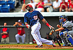 8 March 2009: Washington Nationals' outfielder Elijah Dukes in action during a Spring Training game against the New York Mets at Space Coast Stadium in Viera, Florida. The Nationals defeated the Mets 8-3 in the Grapefruit League matchup. Mandatory Photo Credit: Ed Wolfstein Photo