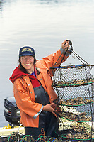 Oyster Suzie, of Pristine Products, farms oysters in Prince William Sound, Alaska