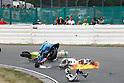 2010/07/18 - MotoGP - Round08 - Sachsenring - Aleix Espargaro (Pramac Racing) Randy de Puniet (Playboy Honda) Alvaro Bautista (Rizla Suzuki) - Crash -